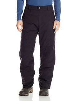 White Sierra Men's 32″ Inseam Toboggan Insulated Pants, Black, Large