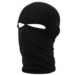 FENTI Lycra Sport Balaclava with Eye Hollow, Motorcycle Ski Cycling Face Mask , Black , One Size