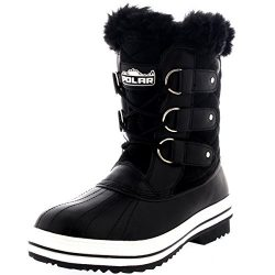 Polar Products Womens Snow Boot Quilted Short Winter Snow Rain Warm Waterproof Boots – 9 & ...