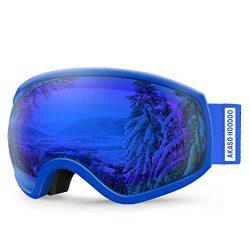 AKASO Hoodoo Ski Goggles, Snowboard Goggles – Anti-Fog, 100% UV Protection, Double-Layer S ...