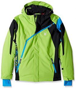 Spyder Boy's Challenger Ski Jacket, Fresh/Black/French Blue, Size 10