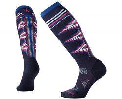 SmartWool Women's PhD Ski Light Pattern Socks (Deep Navy) Medium