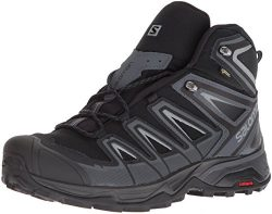 Salomon Men's X Ultra 3 Mid GTX Trail Running Shoe, Black, 12 M US