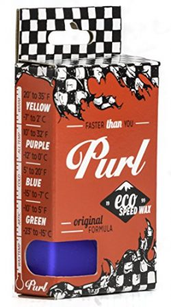 Purl Cold/Winter Ski & Snowboard Tuning Wax Biodegradable Eco-Friendly and Fast Wax 65g Box Blue
