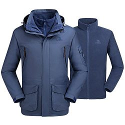 Camel Men's Interchange 3-in-1 Active Outdoor Waterproof Sport Jackets Color Blue Size XXL