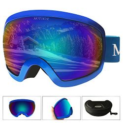 MOTOEYE Ski Goggles – Over Glasses Design Snow/Snowboard Goggle for Men,Women & Youth  ...