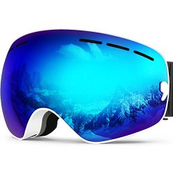 ffc61abb095 Zionor X Ski Snowboard Snow Goggles OTG Design for Men Women with Spherical  Detachable Lens UV