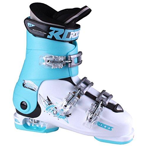 Roces Idea Free G Girls Ski Boots – 22-25/White-Light Blue-Black