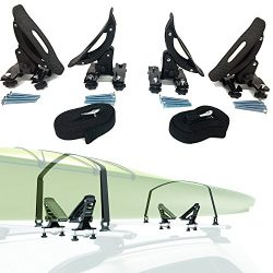 Car Rack & Carriers Universal Saddles Kayak Carrier Canoe Boat. Surf Ski Roof Top Mounted on ...