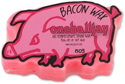 One Ball Jay Bacon Wax ~ All Temp Bacon Scented Ski & Snowboard Wax ~