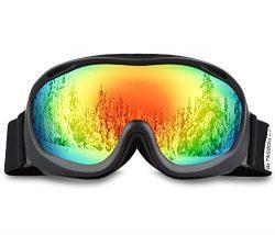 AKASO Ski Goggles An-ti Fog Double Lens Skate Glasses For Men,Women & Youth, UV protection W ...
