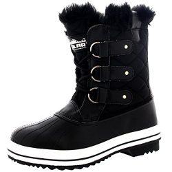 Polar Products Womens Snow Boot Nylon Short Fur Rain Winter Waterproof Snow Warm Boots – B ...