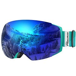 OutdoorMaster Ski Goggles PRO – Frameless, Interchangeable Lens 100% UV400 Protection Snow ...