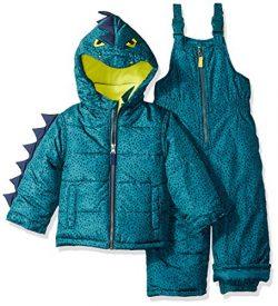 Carter's Little Boys' Character Snowsuit, Green Dinosaur, 5/6