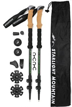 Starlight Mountain Outfitters Trekking Poles – Collapsible Lightweight 6.8oz ea, Aircraft Grade  ...