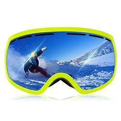 Ewin G03 Ski Goggles, Snowboard Goggles with REVO Anti-Fog Lens 100% UV400 Protection OTG Snow G ...