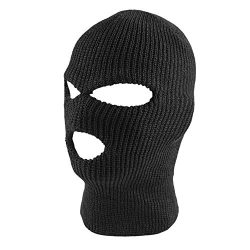 Knit Black Face Cover Thermal Ski Mask For Cycling & Sports