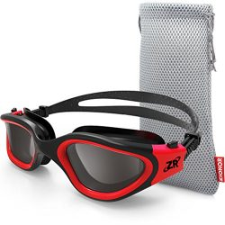 Zionor Swimming Goggles, G1 Polarized Swim Goggles with Mirror/Smoke Lens UV Protection Watertig ...