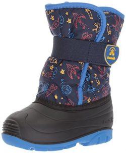 Kamik Boys' Snowbug4 Snow Boot, Navy/Strong Blue, 8 Medium US Toddler