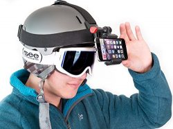 Ski Camera for Your Helmets, Beanies, & Hats. Fits Your Smartphone iPhone, Samsung Galaxy &a ...