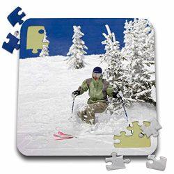 Danita Delimont – Skiing – Telemark Skier, Whitefish Mountain Resort, Montana – ...