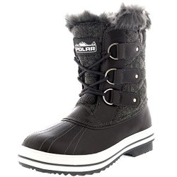 Polar Products Womens Snow Boot Quilted Short Winter Snow Rain Warm Waterproof Boots – 10  ...