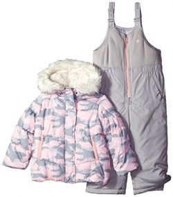 OshKosh B'Gosh Osh Kosh Little Girls' Ski Jacket and Snowbib Snowsuit Outfit Set, Pi ...