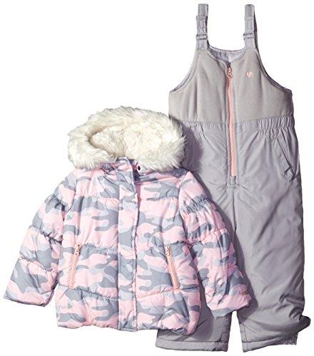 OshKosh B'Gosh Osh Kosh Little Girls' Ski Jacket and Snowbib Snowsuit Outfit Set, Pi ...