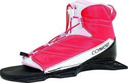 Connelly Pink Women's Nova Binding Nova Rear Waterski for Age (5-11), Small/Medium