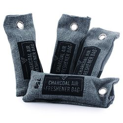 Natural Closet Air Freshener Purifier, Shoe Deodorizer & Car Activated Bamboo Charcoal Moist ...