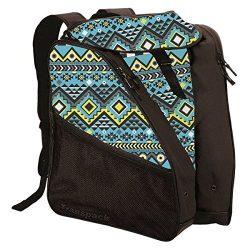 Transpack XTW Ski Boot Bag (Aqua Aztec)