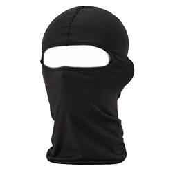 Xiabing Classic Lightweight Lycra Ski Face Mask Bicycle Sports Balaclava Helmet (Black)