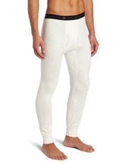 Duofold Men's Mid Weight Wicking Thermal Pant, Winter White, Medium
