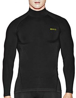 EXIO Japan Men's Mock Turtleneck Compression Shirt Cool&Dry Baselayer Top EX-T02 (Larg ...