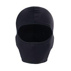 GANWAY Men Hat Motorcycle Headgear Helmet Liner Balaclava Ski Mask Face Hat (Black)