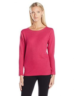Duofold Women's Mid Weight Wicking Thermal Shirt, Berry Delight, M