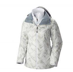 Columbia Women's Nordic Point II Interchange Omni Heat Hooded Winter Ski Jacket (Small, Wh ...