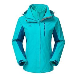 Camel Women's 3-in-1 Systems Jacket WaterProof Color Blue