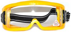 Adult Motocross Motorcycle Dirt Bike ATV MX Off-Road Goggles Yellow Clear Lens