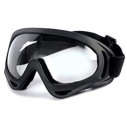 Ski Goggles UV Protection Adjustable Portable Motorcycle Bicycle Goggles Dustproof Scratch, Outd ...