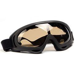 SPOSUNE Motorcycle Goggles for Men Women,Airsoft Goggles UV400 Protective Light Anti-Glare Detac ...
