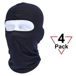 AXBXCX 4 Pack – Balaclava Windproof Ski Mask Neck Gaiter Bandanas Helmet Liner for Airsoft ...