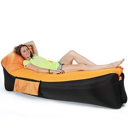 Quickcity (2018 Upgrade) Inflatable Couch Lounger Hammock Bed Outdoor for Adults,Easy Filling Ai ...