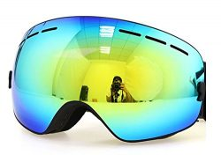 Benice Polarized Ski Goggles with  Photochromic Anti Fog and UV 400 Protection Mirror Spherical  ...