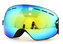 Benice Polarized Ski Goggles with Photochromic Anti Fog and UV 400 Protection Mirror Spherical  ...