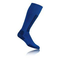 THORLO UNISEX SKI THORMOLITE SKI SOCKS, LASER BLUE/BLACK XL