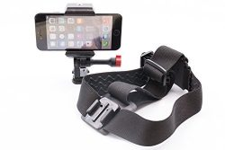 GoPro & iPhone Ski Helmet Camera Mount For Action Videos, Works With All Your Devices