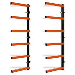 Lapha' Bar Rack Steel Wall Mounted 600lb Garage 6 Shelf Lumber Wood Storage Indoor/Outdoor ...