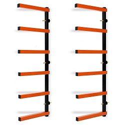 Lapha' Bar Rack Steel Wall Mounted 600lb Garage 6 Shelf Lumber Wood Storage Indoor/Outdoor ...