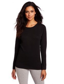 Duofold Women's Mid Weight Wicking Thermal Shirt, Black, Small